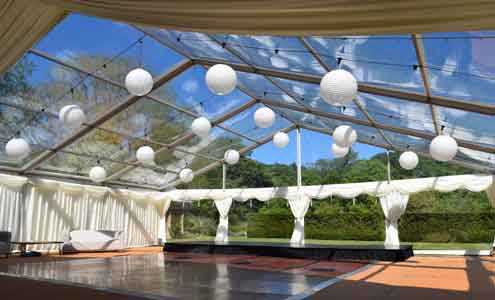 Clear Marquee Roofs