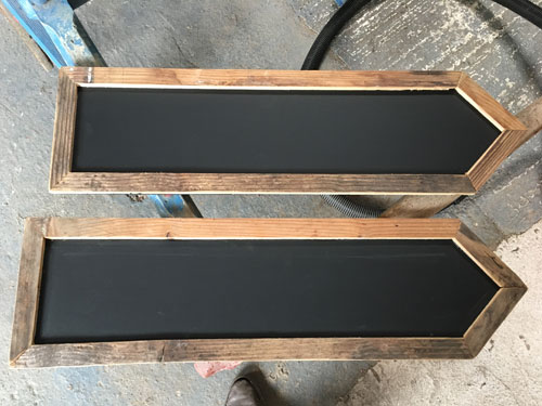 Directional Chalkboard Signs, wedding signs, event signage