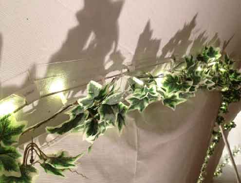 Ivy Garlands with Fairy Lights