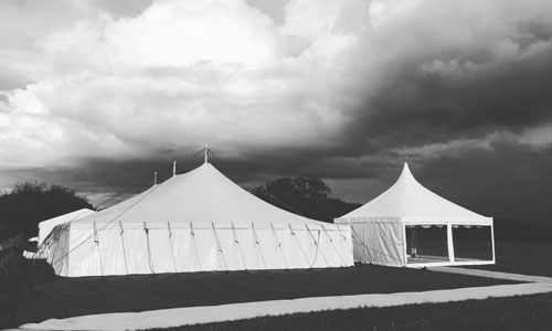 A Traditional Pole Marquee
