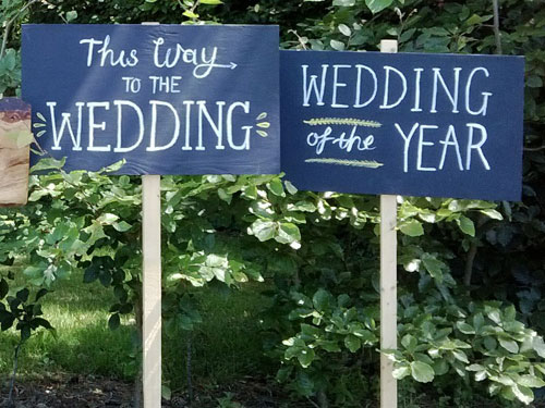 wedding bells, wedding signs, wedding accessories, wedding hire, party hire, marquee bridport