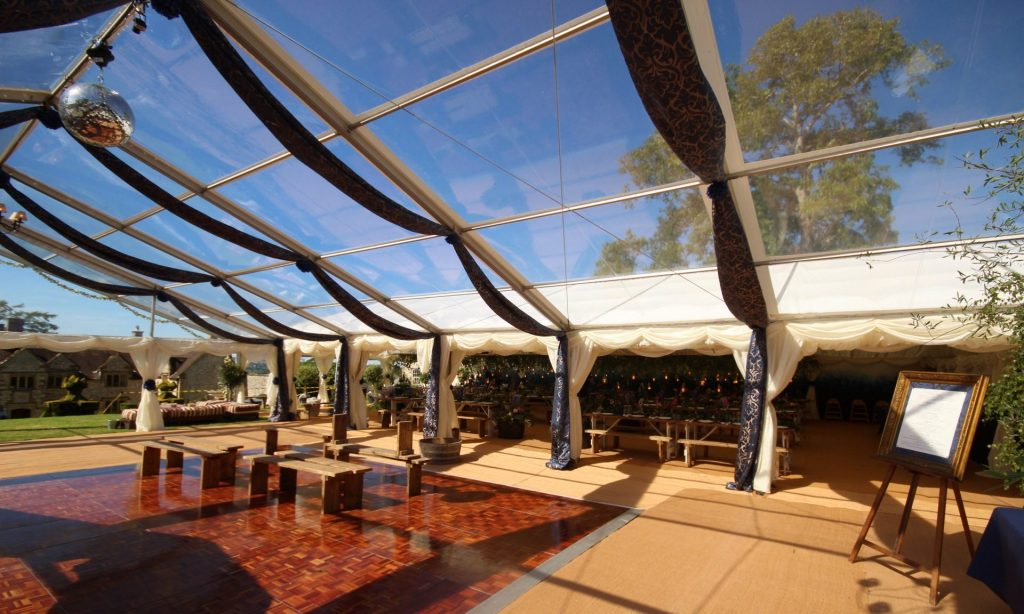 Clear Roof Marquee, clear marquee, clear span marquee, wedding marquee, bridport marquee, dorset wedding