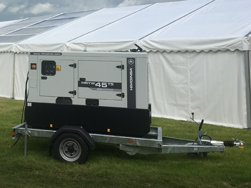 generator hire, event power hire, marquee power, event electrics, silent generator