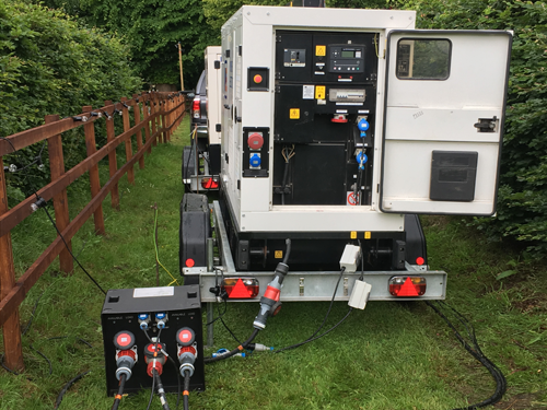 generator hire, event power hire, wedding generator hire, marquee power, site electrics