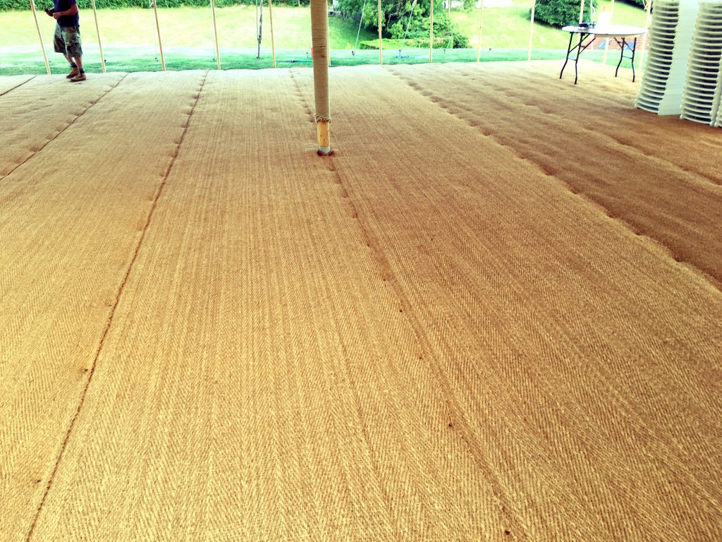 Coconut Matting, marquee flooring, marquee hire, tent floor, wedding hire dorset