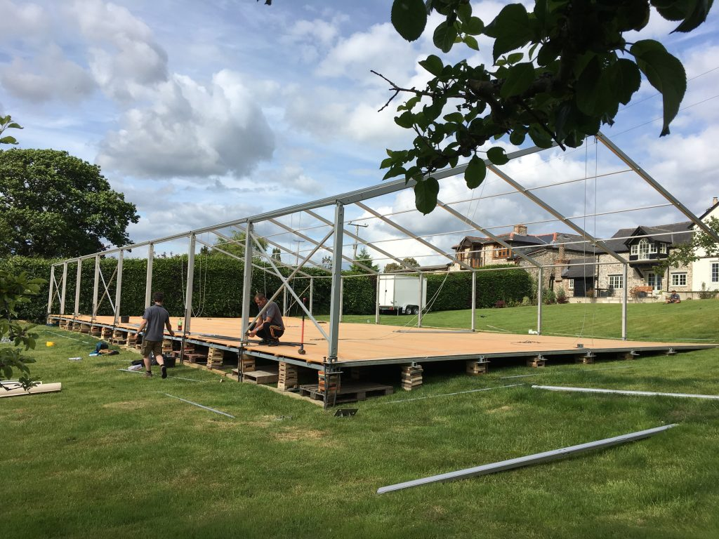 Raised Hard Floor, marquee floor, marquee hire, event hire, dorset wedding marquee, event flooring