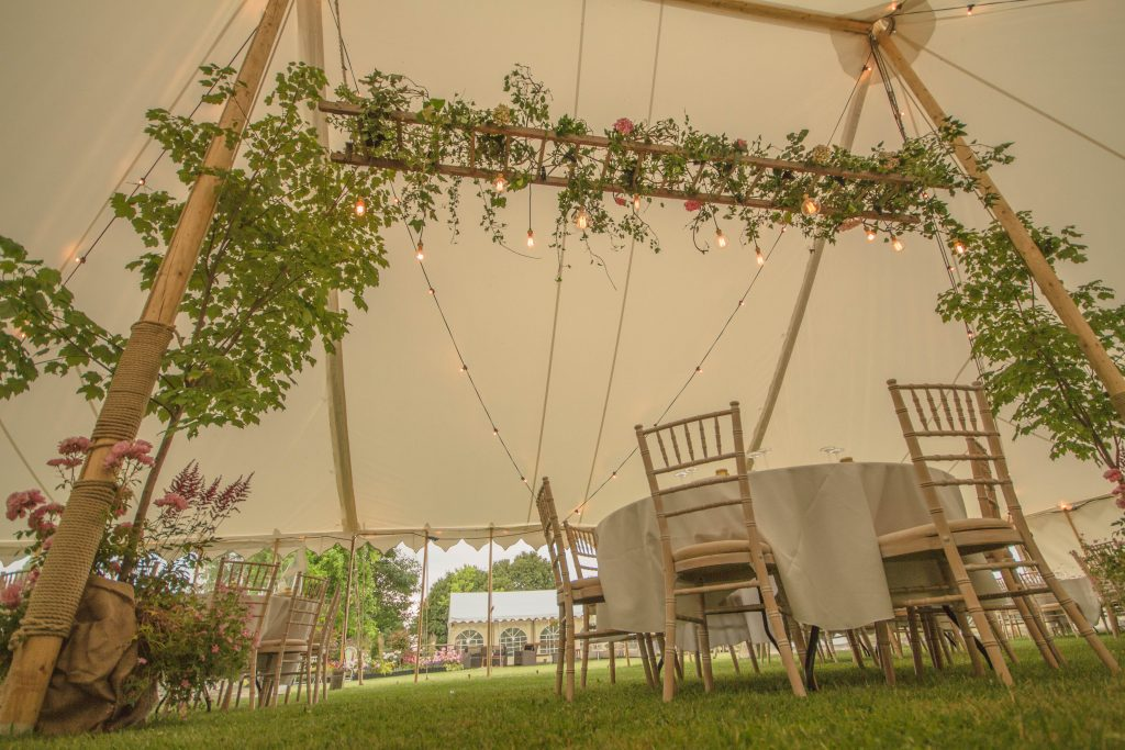 vintage wedding hire, rustic wedding, traditional marquee, pole marquee, country wedding